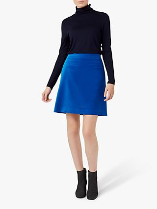Hobbs Vanetta Cotton Skirt, Agean Blue