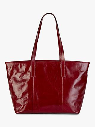 Hobbs Leather Gable Tote Bag, Burgundy