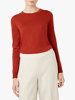 Hobbs Penny Merino Wool Sweater, Rust