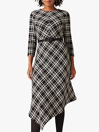 Phase Eight Elise Asymmetric Dress, Black/White