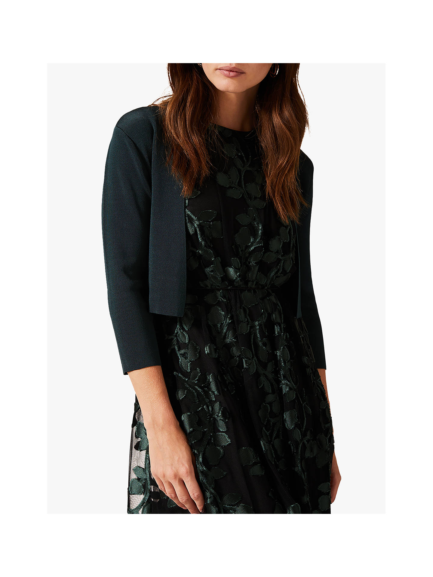 Buy Phase Eight Salma Jacket, Galactic Green, 12 Online at johnlewis.com