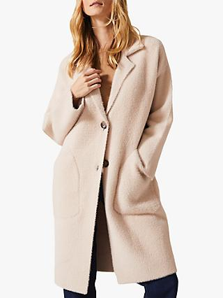 Phase Eight Floressa Knit Coat, Pale Pink