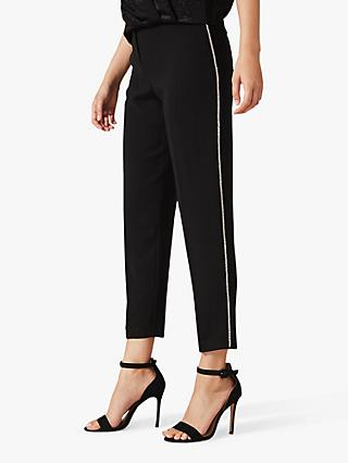 Phase Eight Safia Slim Leg Trousers, Black