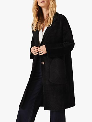Phase Eight Floressa Knit Coat, Black