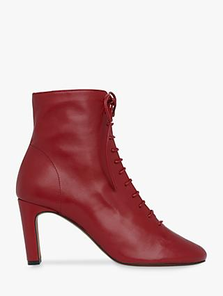 Whistles Dahlia Leather Lace Up Ankle Boots