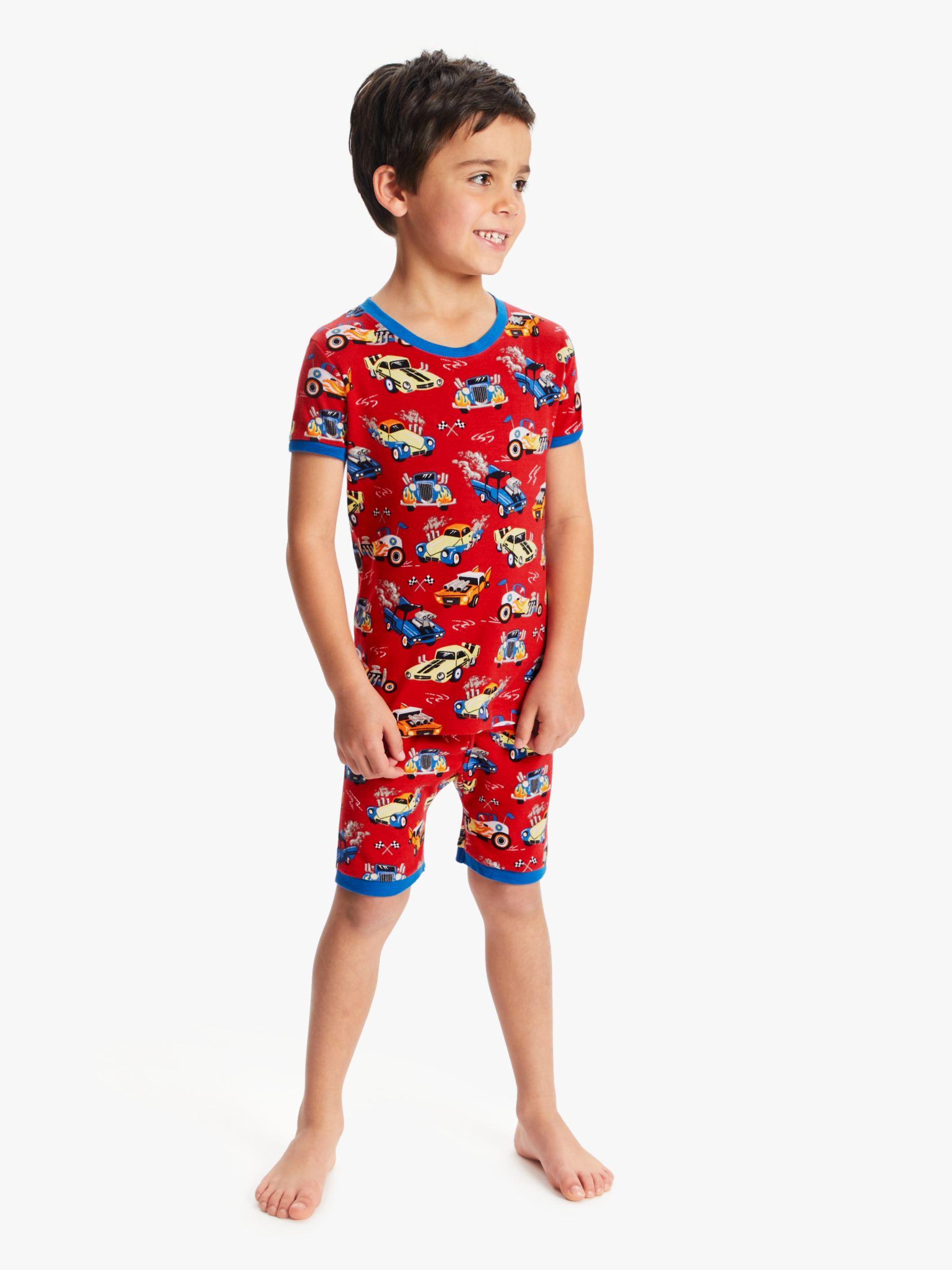 Hatley Hatley Boys' Car Print Short Pyjamas, Red