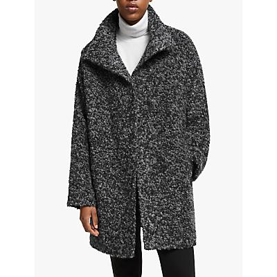 eileen fisher alpaca melange coat, ash/black
