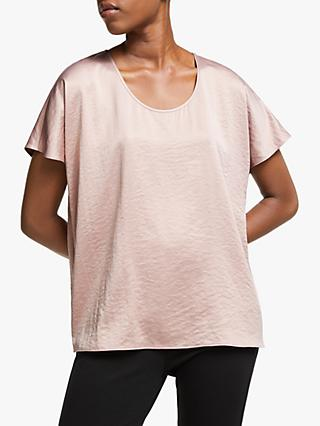 EILEEN FISHER Recycled Polyester Box Top, Sugar Plum