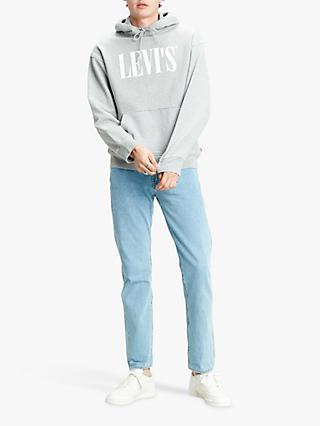 Levi's Relaxed Graphic Logo Hoodie, Mid Grey Heather
