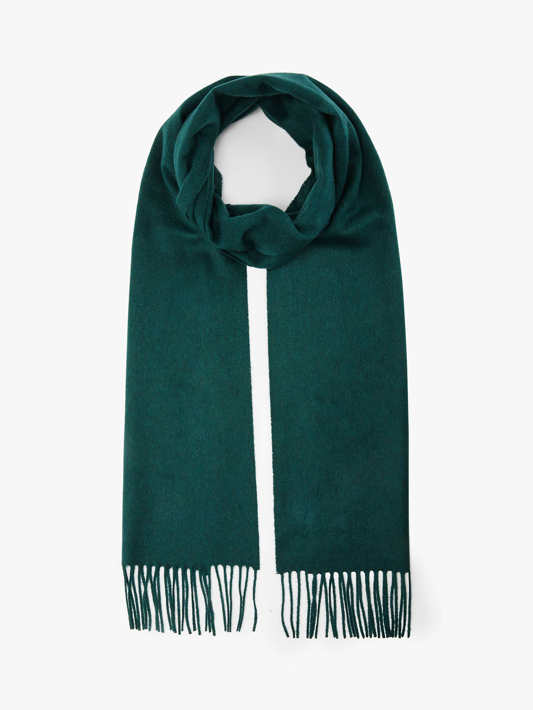 Johnstons Of Elgin Classic Cashmere Scarf, Hunter Green by Johnstons Of Elgin