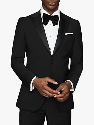 Reiss Poker Performance Modern Fit Dress Suit Jacket, Black