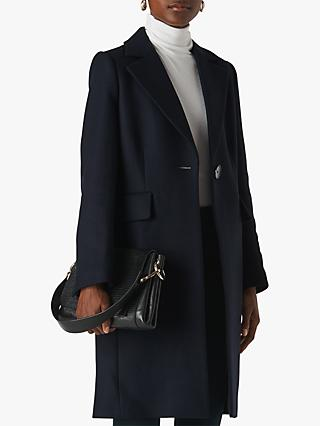 Whistles Clara Single Breasted Wool Coat
