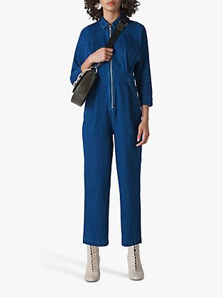 Whistles Jolie Denim Jumpsuit, Blue Denim
