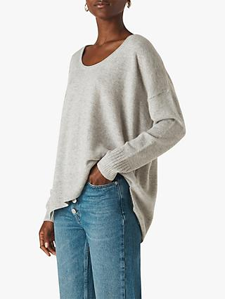 Whistles Cashmere Scoop Neck Jumper