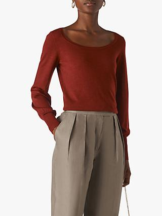 Whistles Fine Merino Wool Scoop Neck