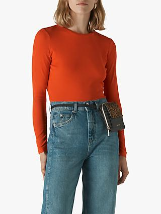 Whistles Essential Crew Neck Top