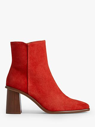 Jigsaw Conduit Suede Ankle Boots, Red