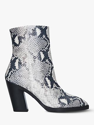 Stuart Weitzman Wynter Snake Print Ankle Boots, Natural