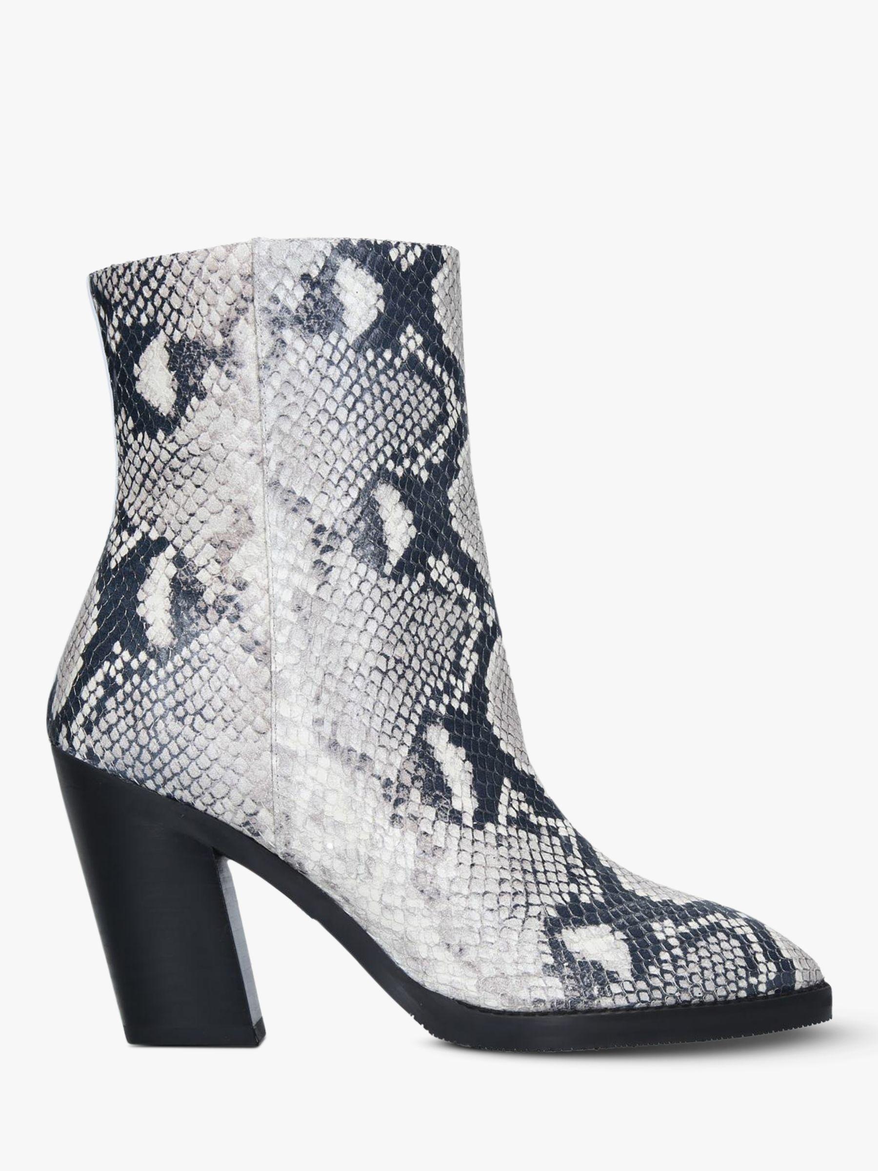 Stuart Weitzman Stuart Weitzman Wynter Snake Print Ankle Boots, Natural