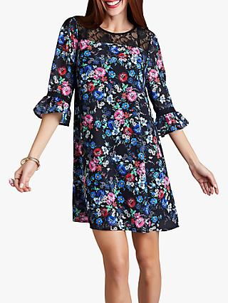 Yumi Midnight Lace Tunic Dress, Black