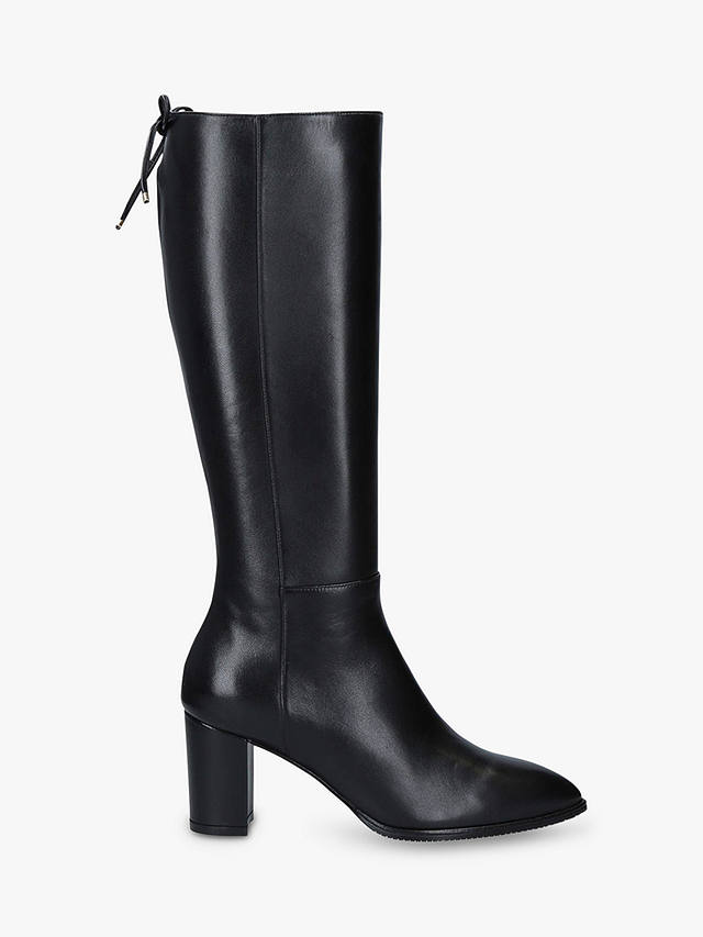 Buy Stuart Weitzman Hettie Leather Knee Boots, Black, 2 Online at johnlewis.com