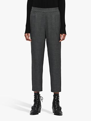 AllSaints Anneka Check Trousers, Grey/Black