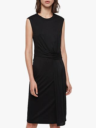 AllSaints Limera Tie Waist Dress, Black