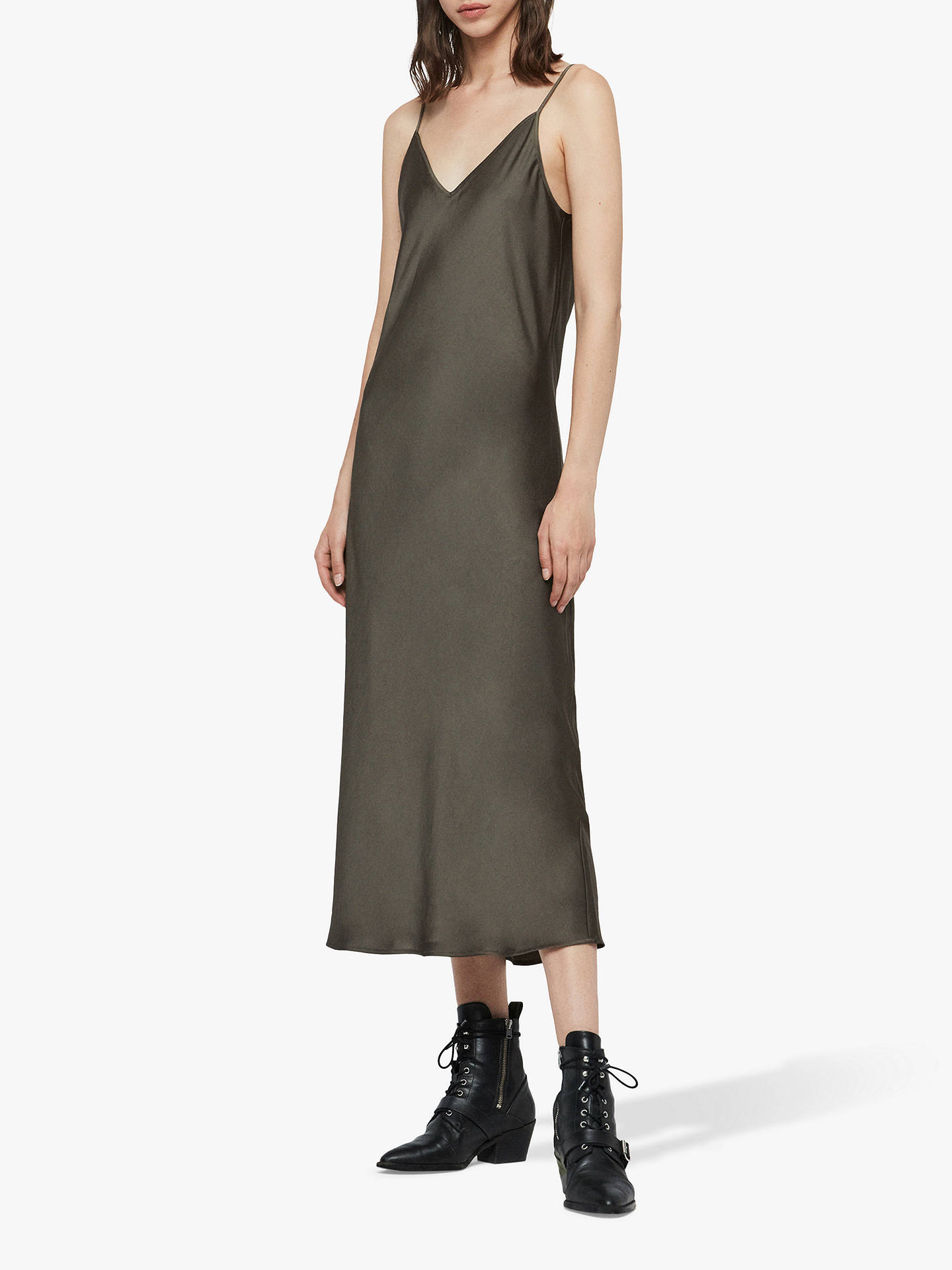 superior performance preview of luxury aesthetic AllSaints Tierny Roll Neck Jumper Dress, Military Green