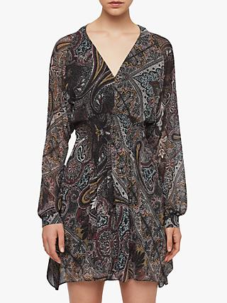AllSaints Nichola Scarf Dress, Purple
