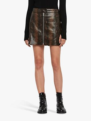 AllSaints Lena Oba Leather Skirt
