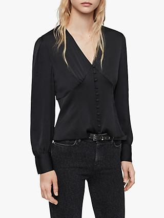 AllSaints Amalie Long Sleeve Blouse