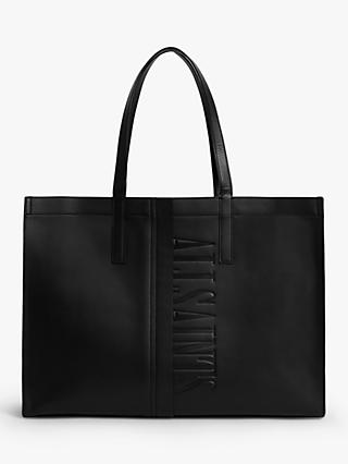 AllSaints Nina East West Leather Tote Bag, Black