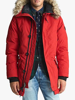 Polo Ralph Lauren Faux Fur Trim Down Parka Jacket