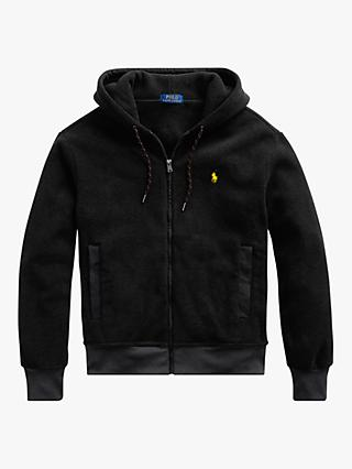 Polo Ralph Lauren Jersey Hoodie, Black Marl Heather
