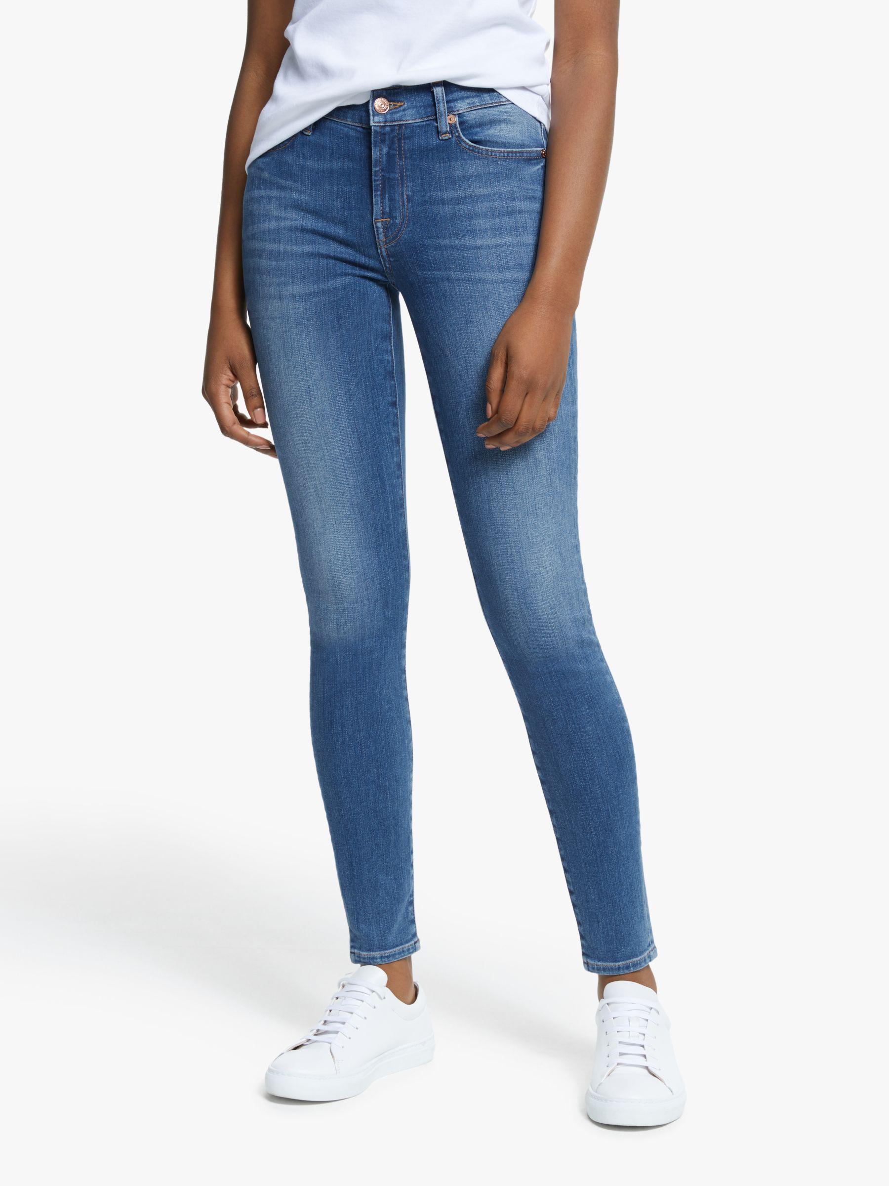 7 For All Mankind 7 For All Mankind Skinny Slim Illusion Crystal Pocket Jeans, Possessed Light Blue