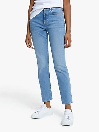7 For All Mankind Relaxed Skinny Slim Illusion Jeans, Departed Light Blue