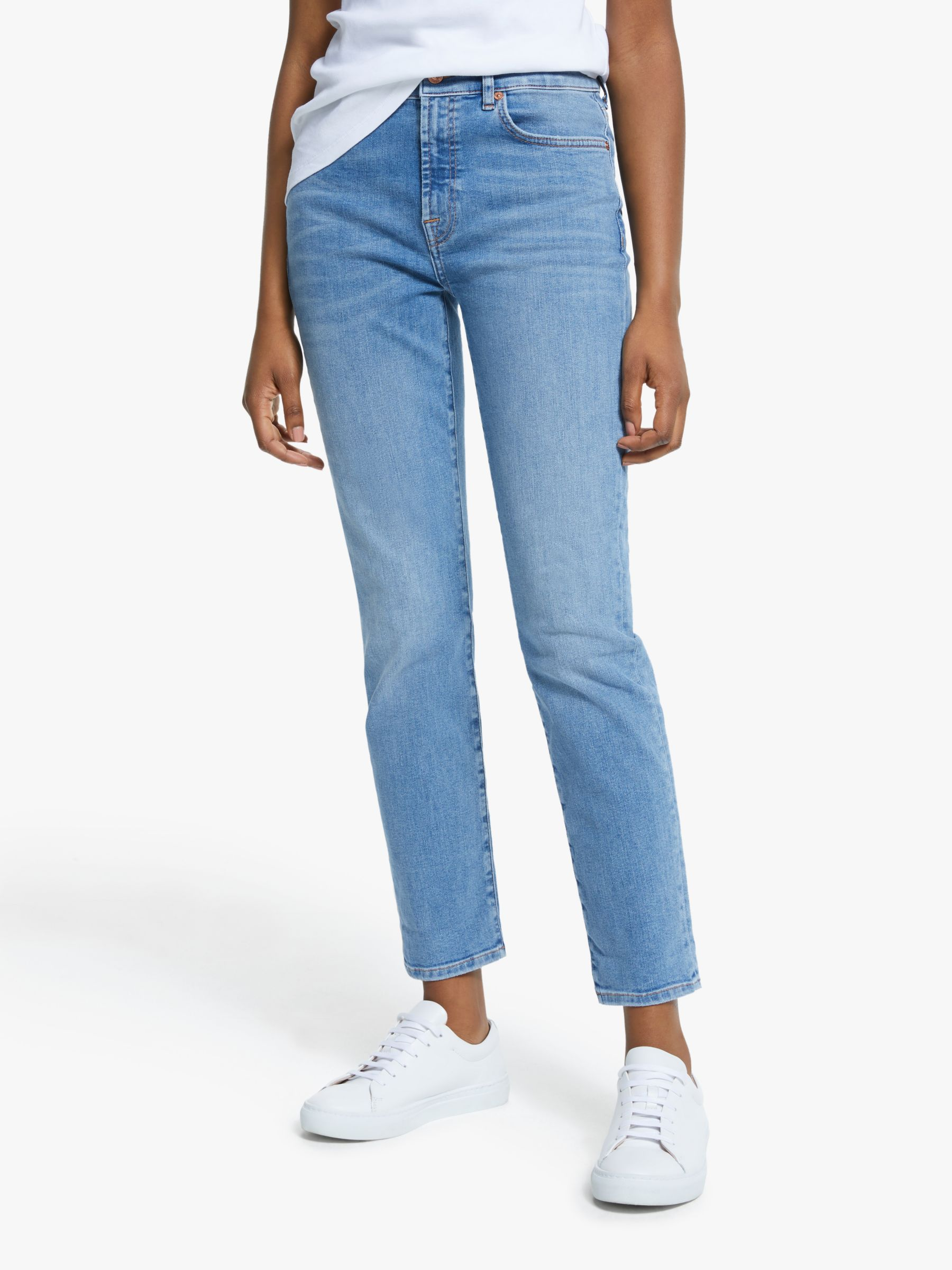 7 For All Mankind 7 For All Mankind Relaxed Skinny Slim Illusion Jeans, Departed Light Blue