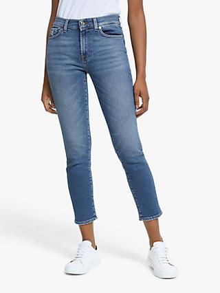 7 For All Mankind Roxanne Luxe Vintage Ankle Jeans, Capitola Mid Blue