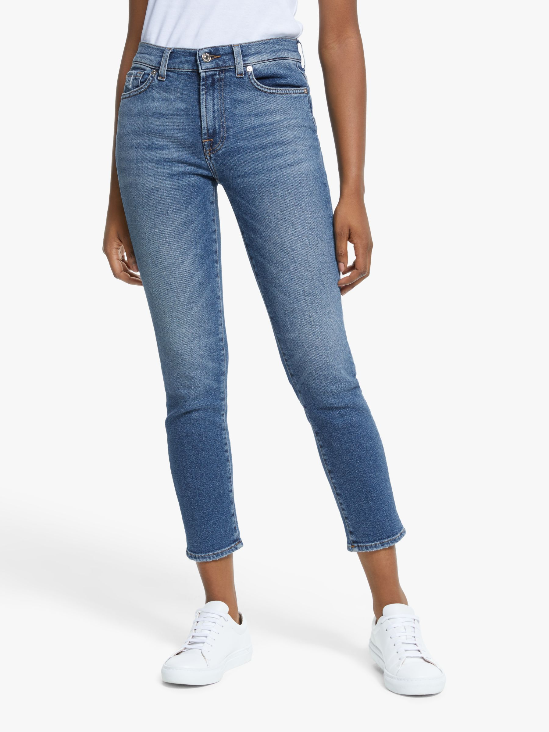 7 For All Mankind 7 For All Mankind Roxanne Luxe Vintage Ankle Jeans, Capitola Mid Blue