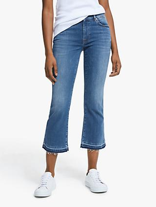 7 For All Mankind Slim Illusion Cropped Bootcut Jeans, Possessed Mid Blue