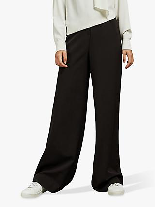 Ted Baker Adaart Wide Leg Tailored Trousers, Black