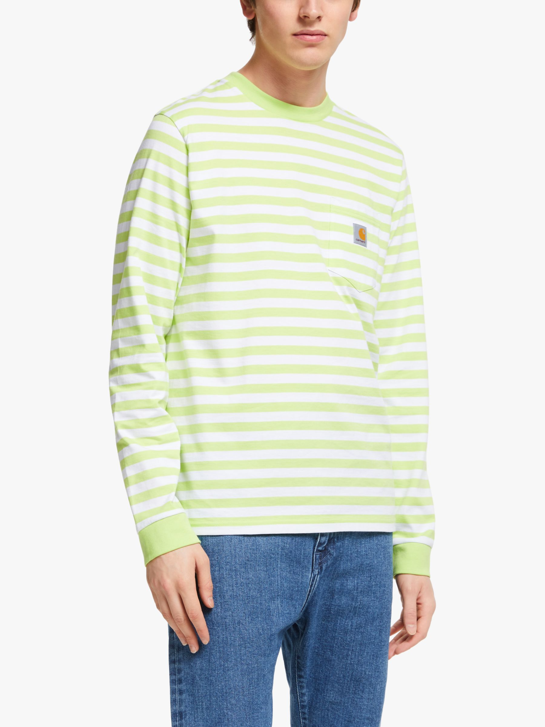 Carhartt WIP Carhartt WIP Scotty Pocket Stripe Long Sleeve Tee