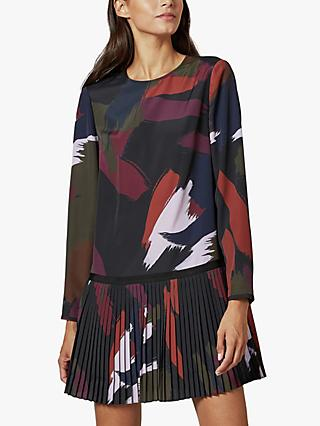 Ted Baker Rosarn Sapphire Long Sleeve Tunic Dress, Black