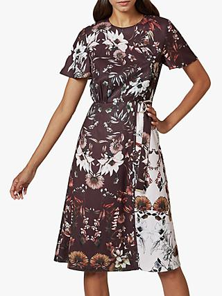 Ted Baker Yaela Floral Print Dress, Bordeaux