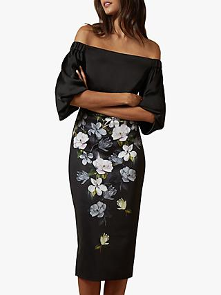 Ted Baker Adalli Off The Shoulder Opal Bodycon Dress, Black