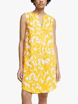 John Lewis & Partners Abstract Floral V-Neck Dress, Multi