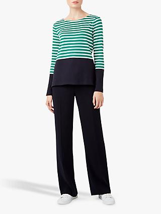 Hobbs Constance Breton Top, Green/Ivory