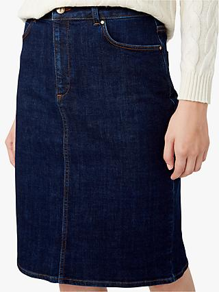 Hobbs Louisa Denim Skirt, Indigo