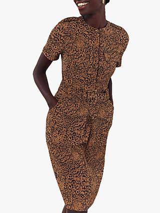 Oasis Mylah Animal Print Dress, Multi