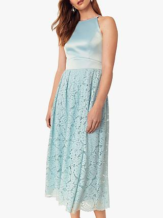 Oasis Evie Lace Satin Midi Dress